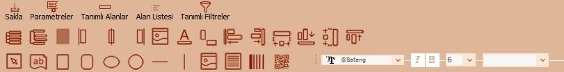 Logo rapor tasarımı butonların anlamı ne