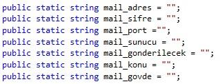 c# mail gönderme