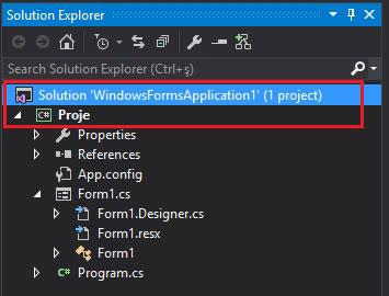 c# solution exproler