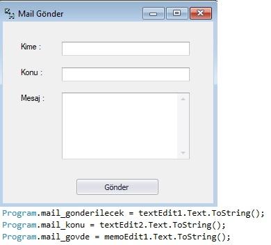 c# nasıl mail gönderilir