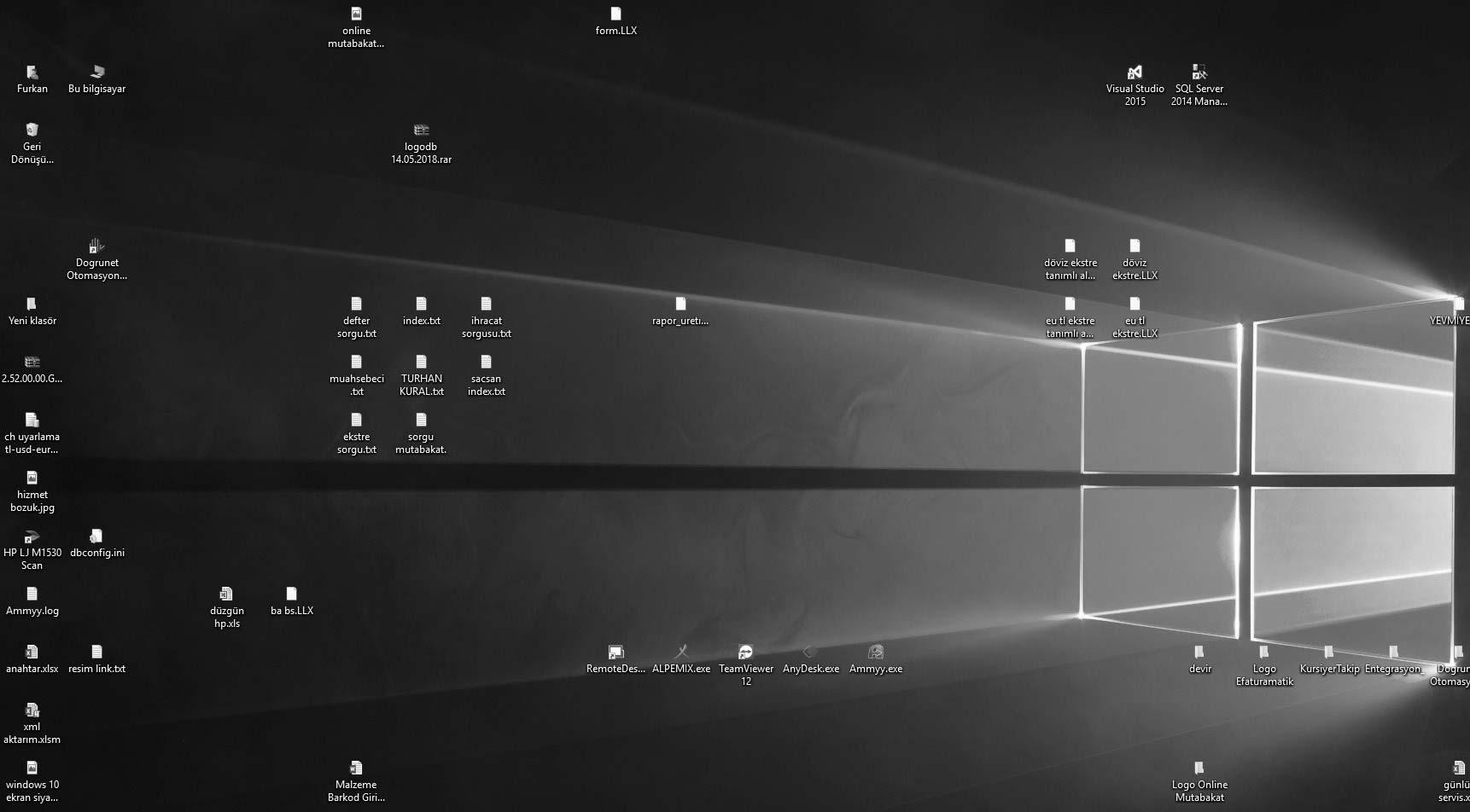 windows 10 renksiz