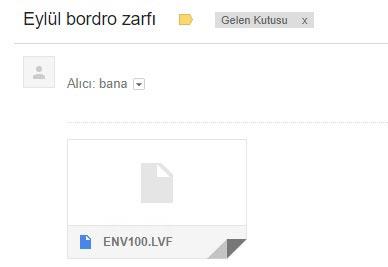 bordro zarfı mail